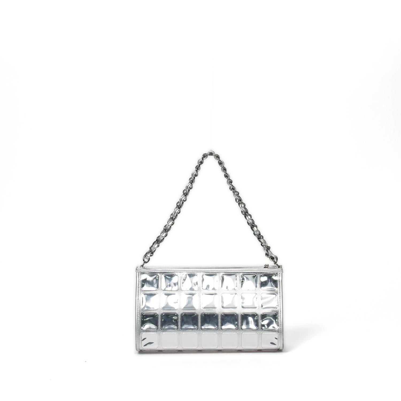 Chanel Limited Edition Ice Cube Silver Handbag at 1stdibs