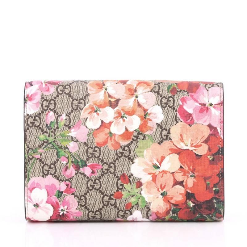 ff34a7270acc Gucci Dionysus Chain Wallet Blooms Print Gg Coated Canvas Small At
