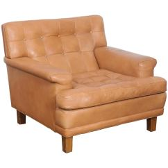Tan Leather Chair Sale Hanging Zippay Arne Norell Merkur Tufted Lounge Sweden Ab For