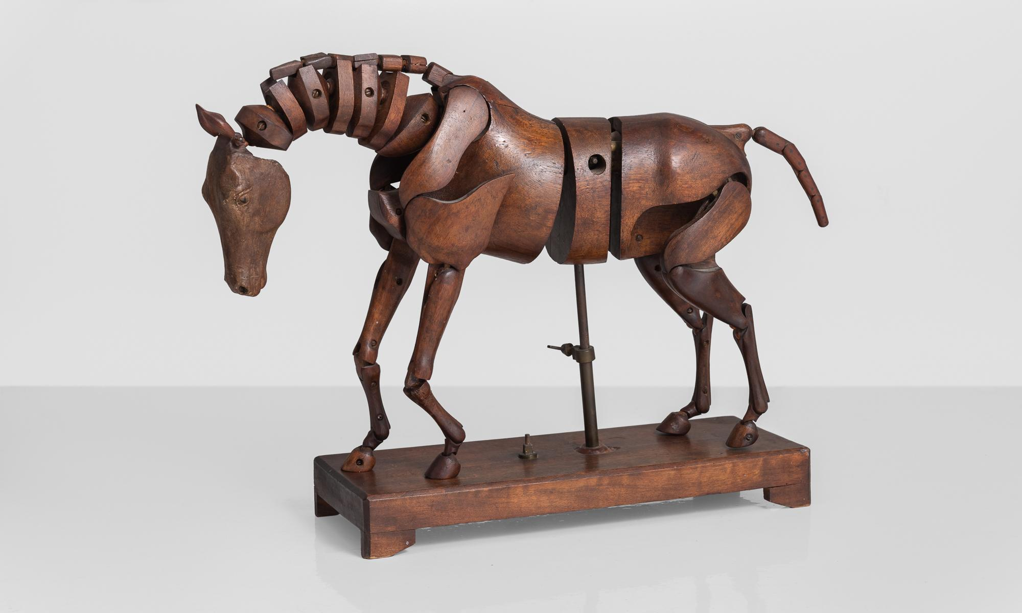 Articulated Wooden Horse Artist's Model by C. Barbe. England. circa 1830 For Sale at 1stDibs