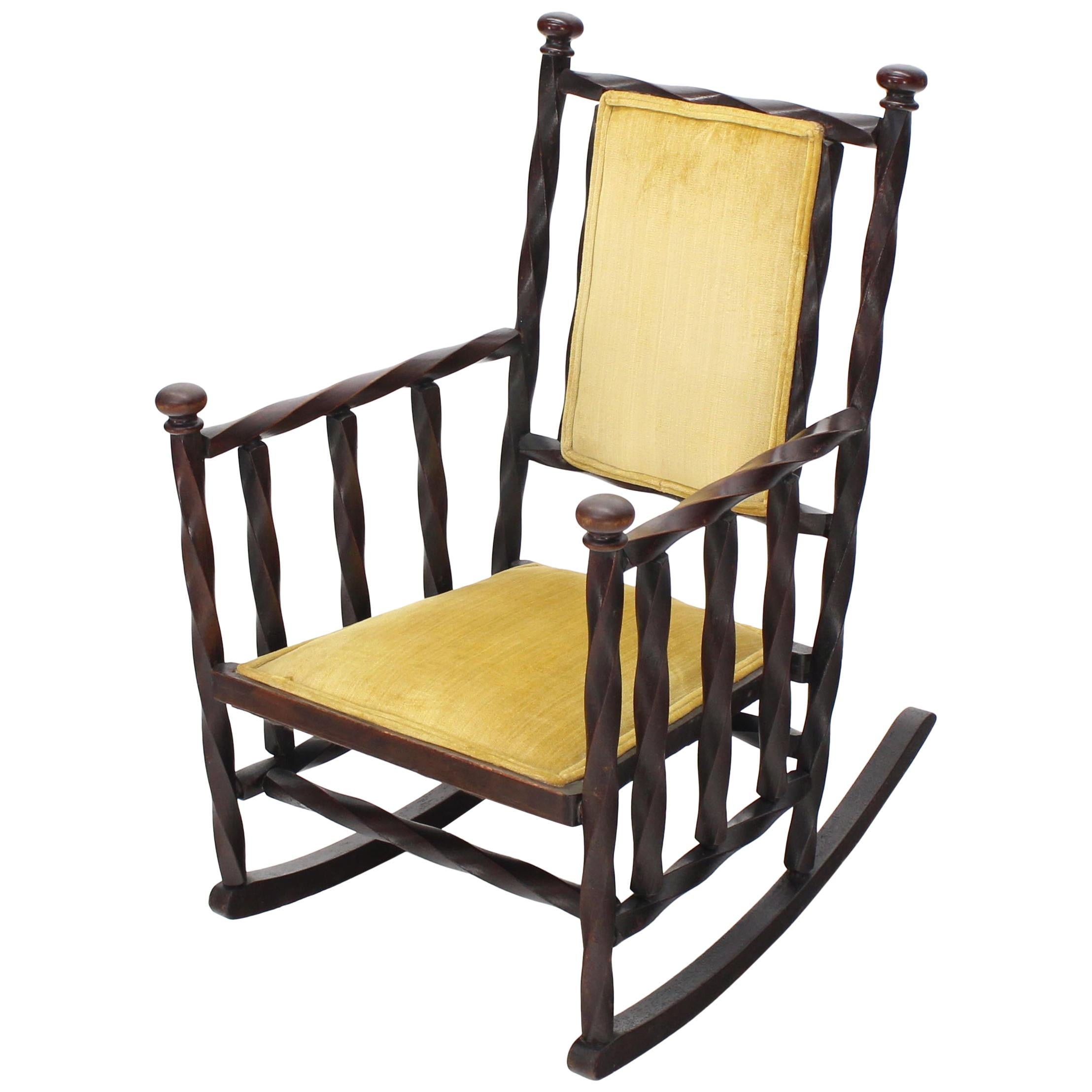 56ef5ab94 J Rusten Studio Crafted Sculptural Modern Rocking Chair In Maple And Walnut