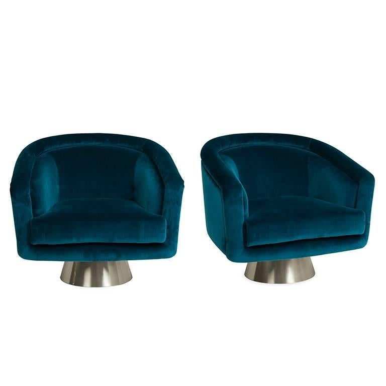swivel chairs for sale teak table and bacharach velvet chair at 1stdibs