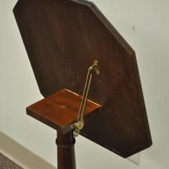 Chair Side Book Stand Kitchen Covers Baker Furniture Mahogany Rosewood Inlaid Tilt Top Lectern Table For Sale At 1stdibs
