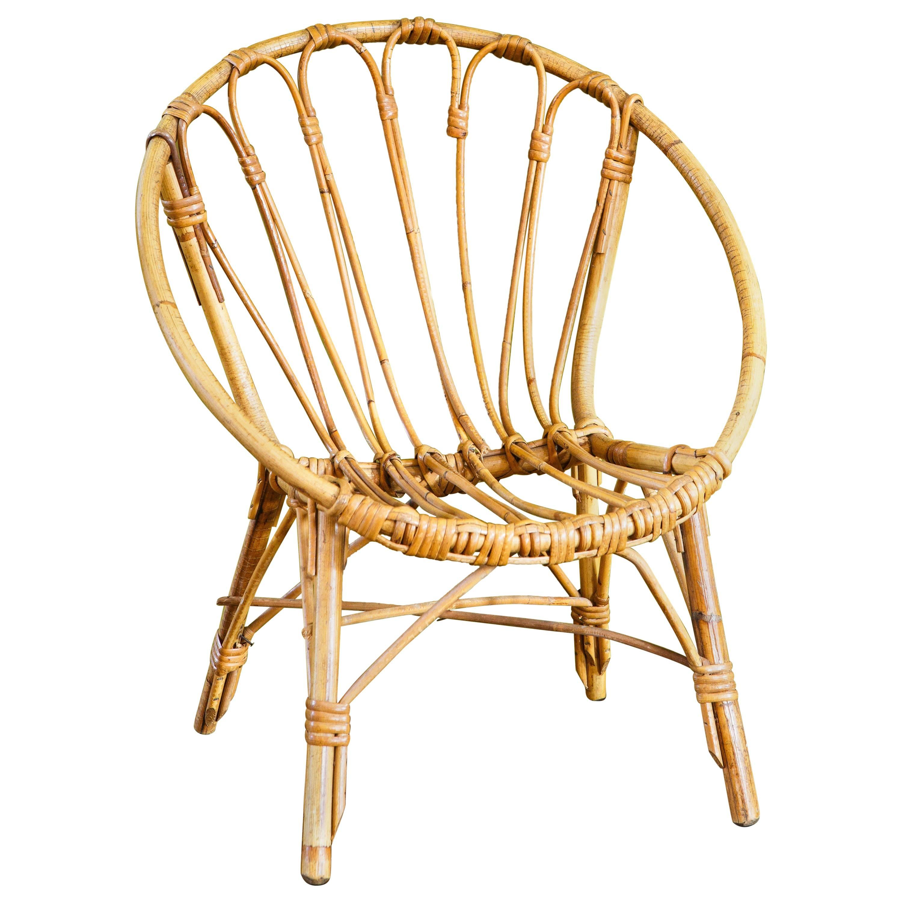 childs rattan chair best for guitar bamboo child s at 1stdibs sale