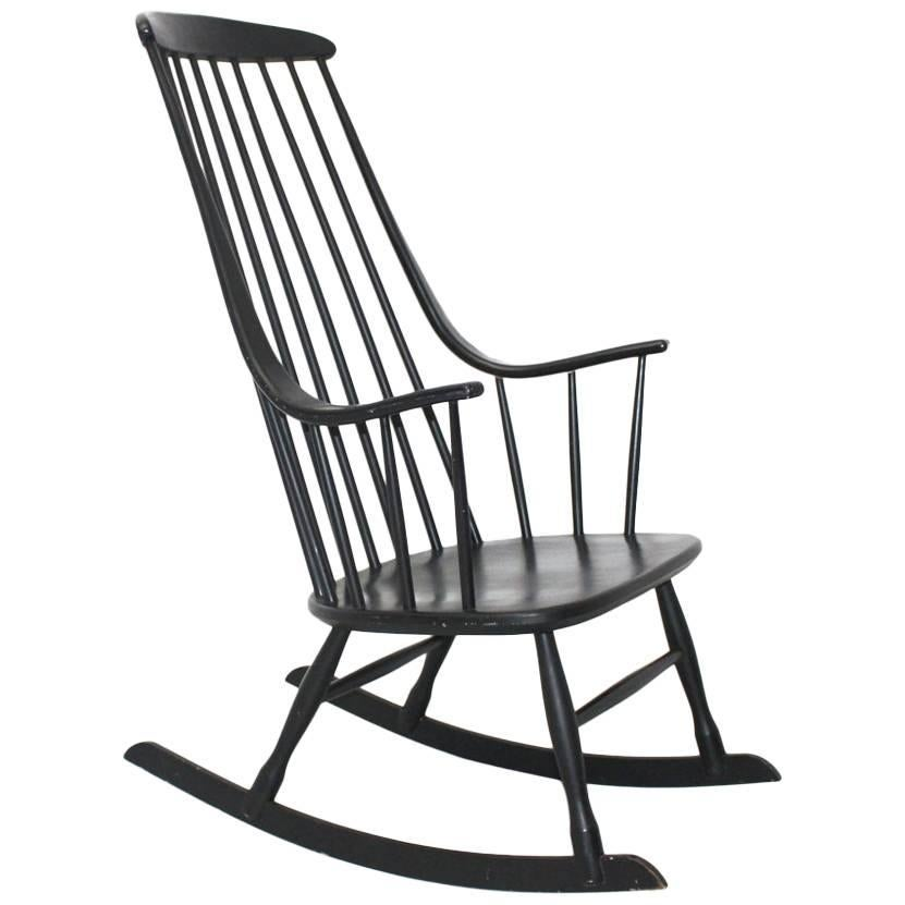 black rocking chairs steel chair manufacturing process grandessa by lena larsson 1961 sweden for nesto sale