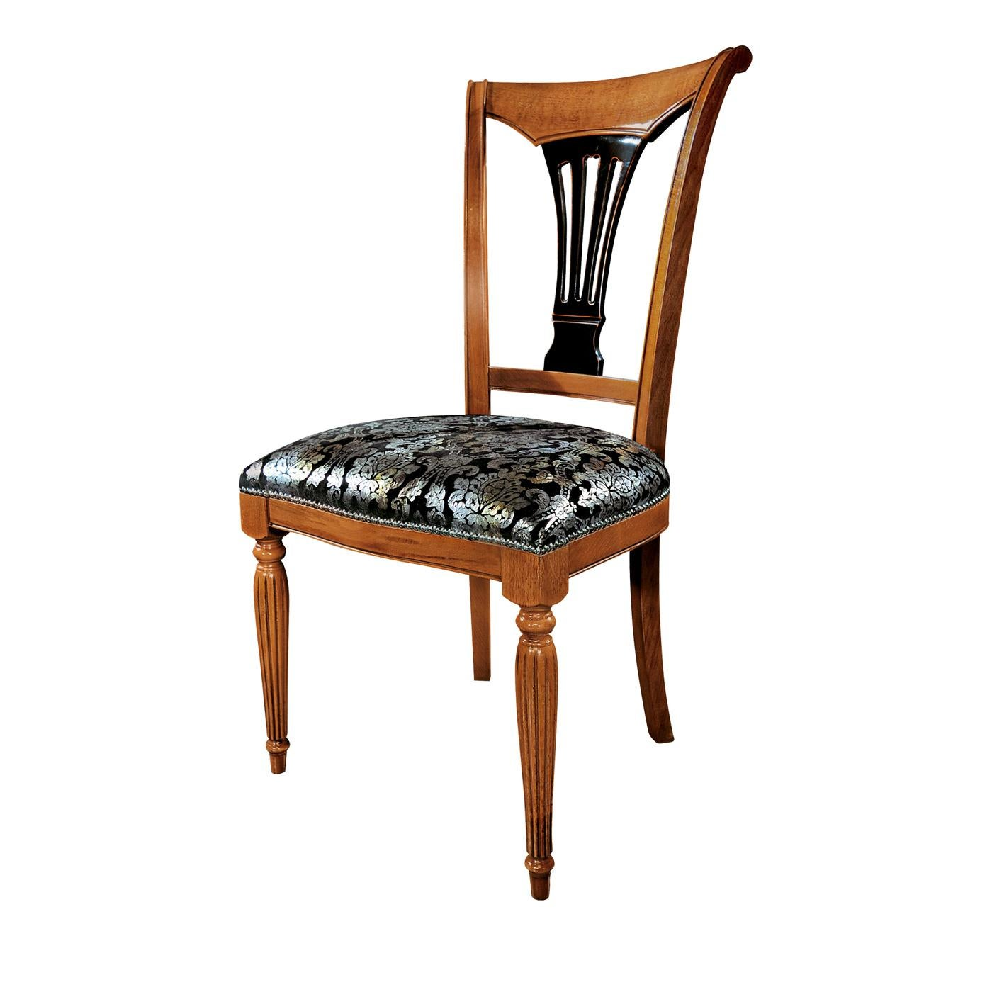 Damask Dining Chair Capotavola Damask Black And Silver Chair