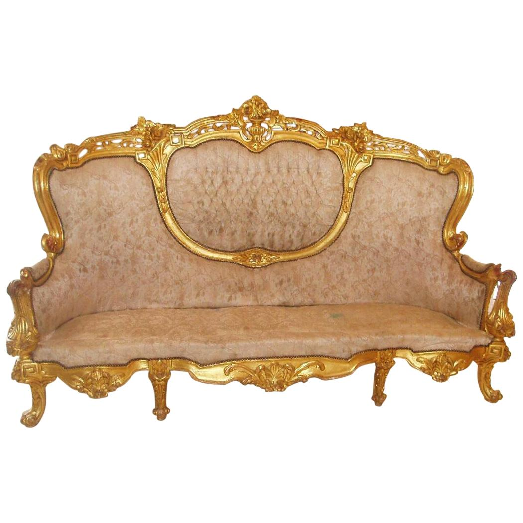 sofa free shipping europe how to clean sweat stains off carved giltwood baroque french for sale at 1stdibs