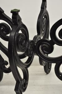 "Cast Iron French Pastry Style Scrolling ""Butterfly"" Dining"