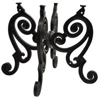 """Cast Iron French Pastry Style Scrolling """"Butterfly"""" Dining"""