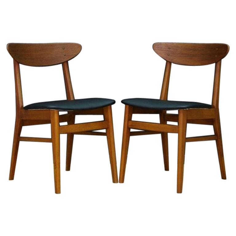 Chairs Teak Retro Danish Design Classic For Sale at 1stdibs