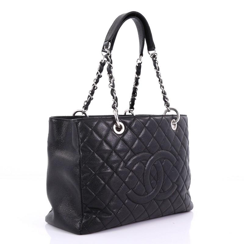 Chanel Grand Shopping Tote Quilted Caviar at 1stdibs
