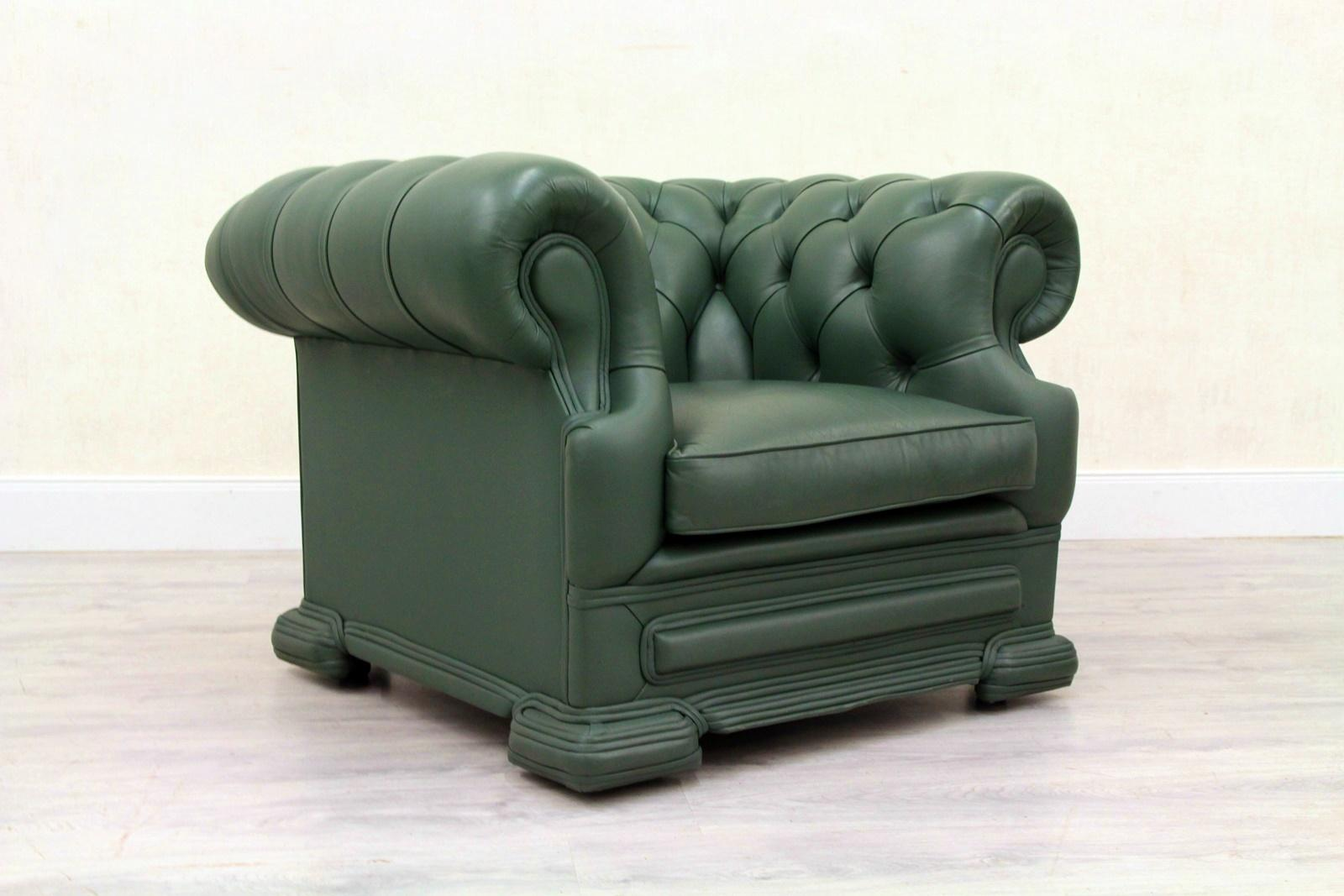 wing chair recliner leather lazy boy big man chesterfield armchair antique for sale 4
