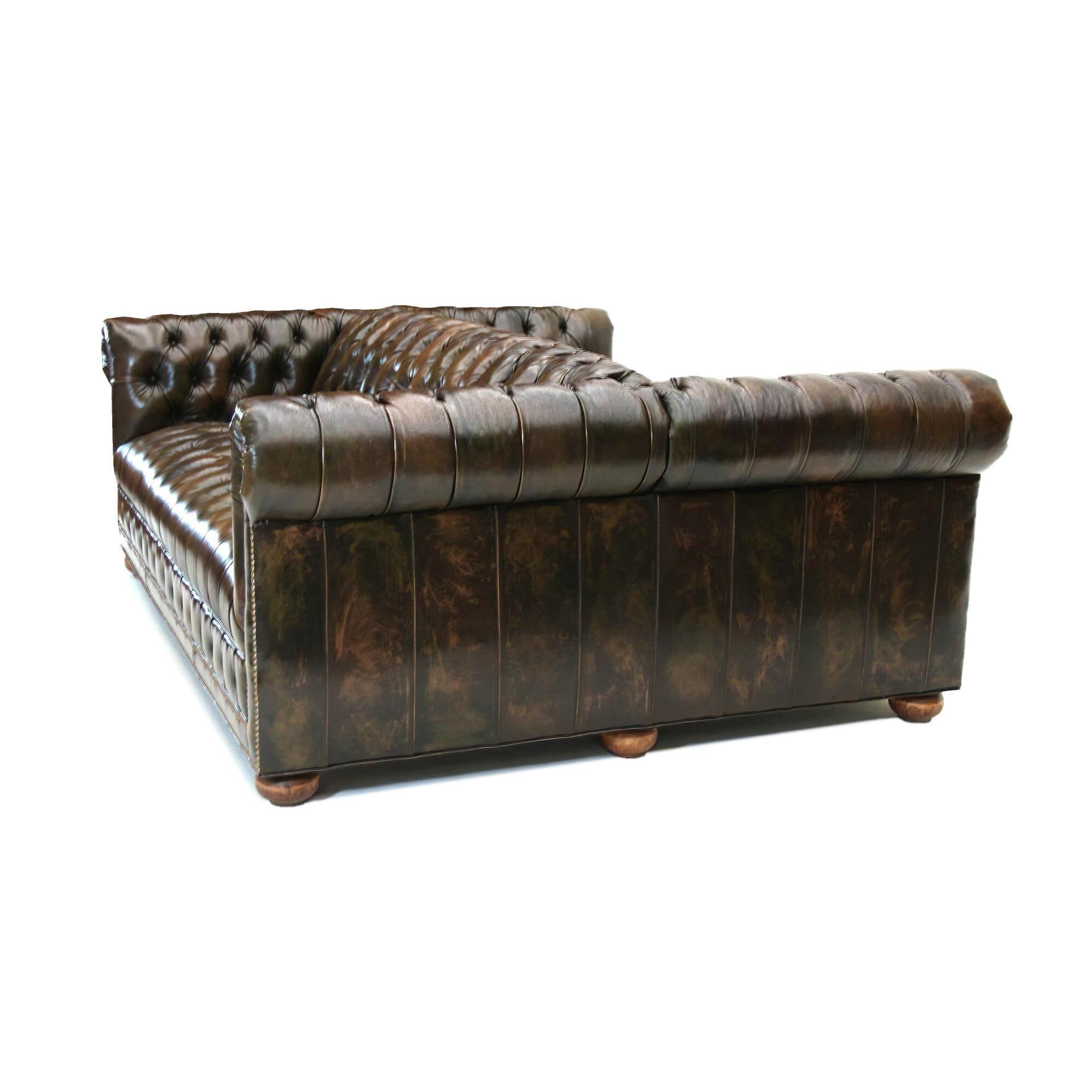 custom double sided chesterfield sofa
