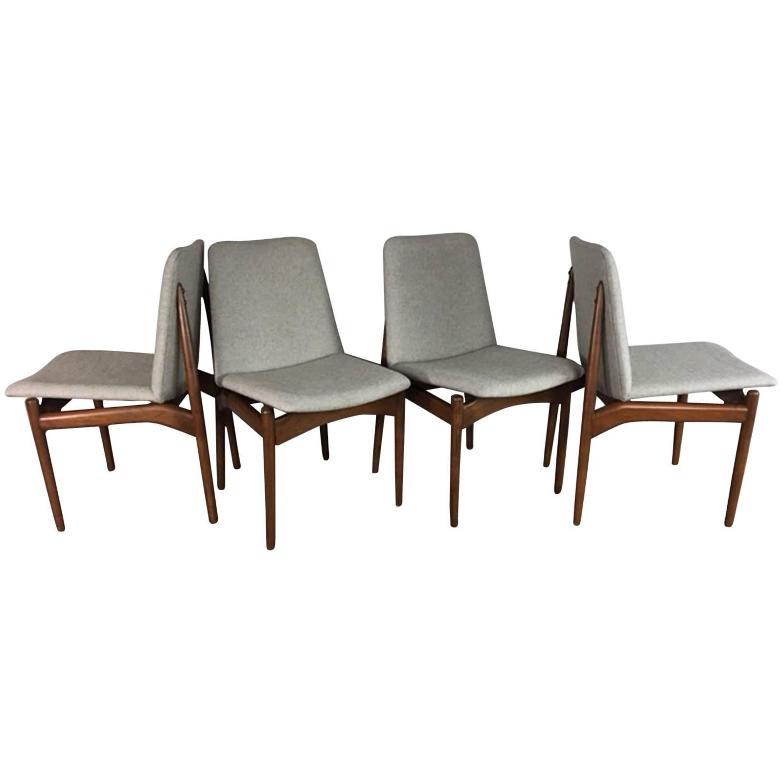 danish dining chair zero gravity canada floating chairs in walnut for sale at 1stdibs