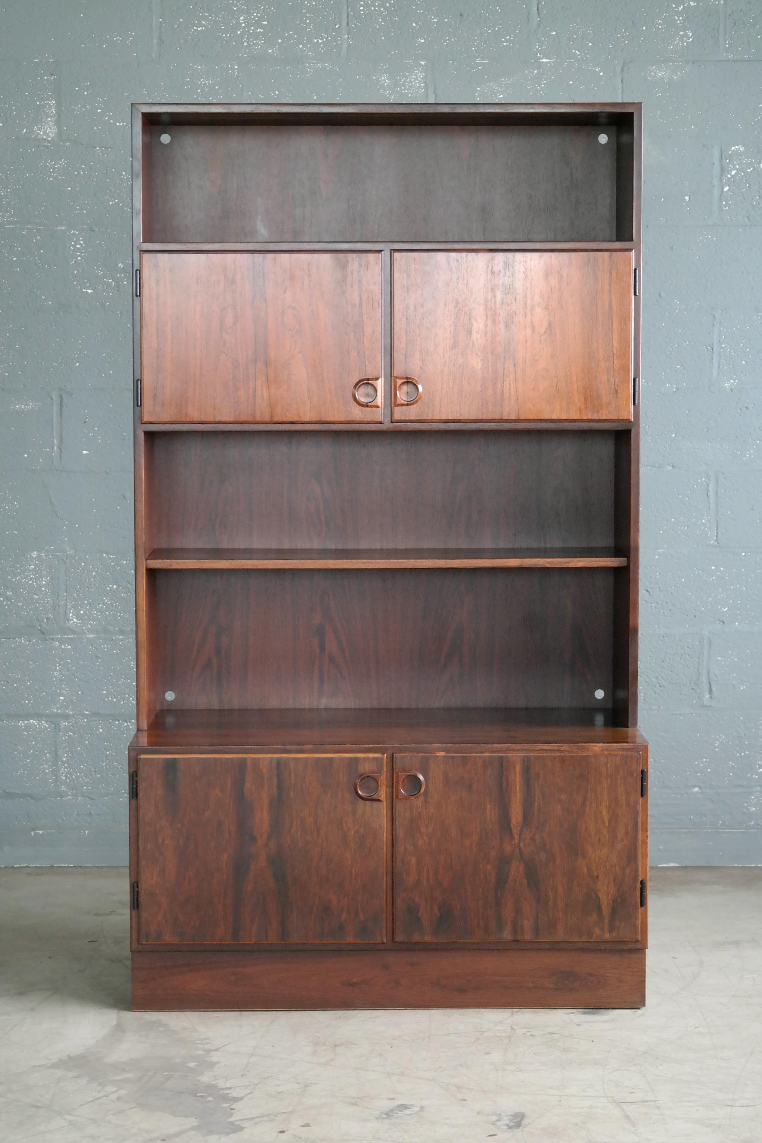 Danish Modern Bookcase Or Wall Unit In Rosewood At 1stdibs