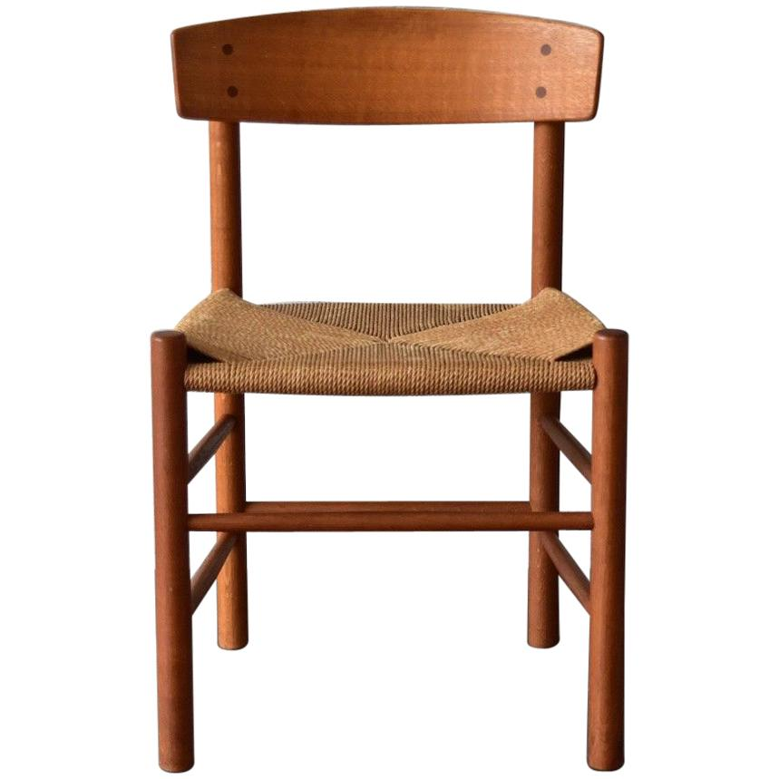 vintage oak dining chairs high backed with arms borge mogensen produced by j39 fdb mobler denmark for sale