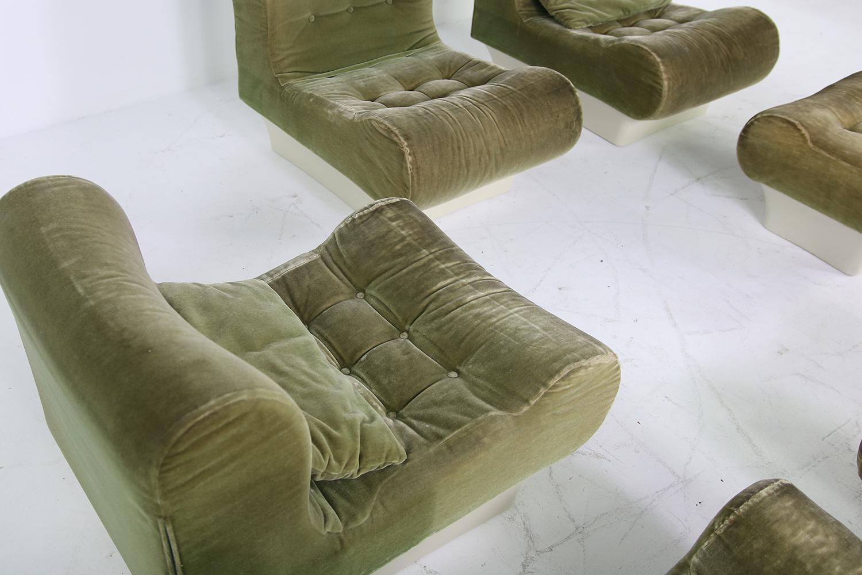 lounge chair for living room home good chairs vintage 1960s otto zapf modular sofa and set mohair sale