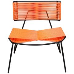Pvc Lounge Chair Can You Paint A Leather Handmade Midcentury Style Outdoor Charcoal With Coral In Stock For Sale
