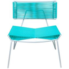 Pvc Lounge Chair How To Recover Leather Dining Chairs Handmade Midcentury Style Outdoor White With Mint In Stock For Sale