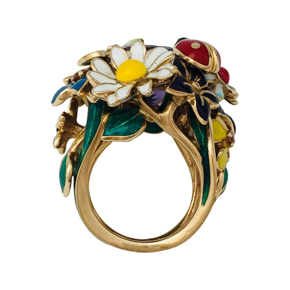 Dior Yellow Gold Ring. Diorette Collection at 1stdibs