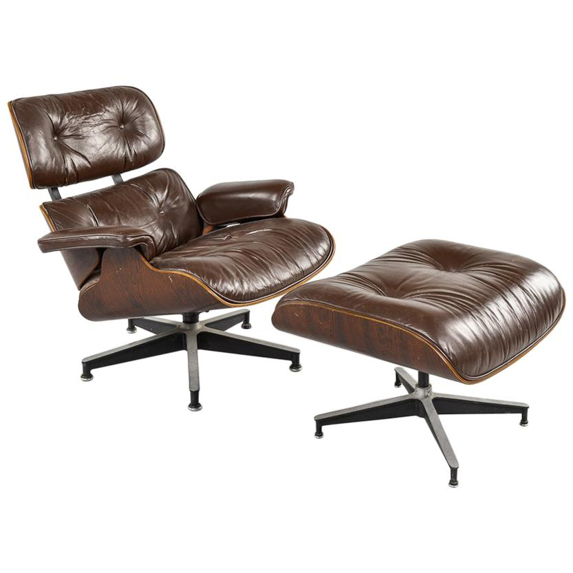 charles eames lounge chair coleman captain s with table rosewood herman miller and ottoman at 1stdibs for