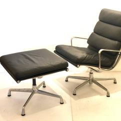 Office Chair With Ottoman Assembly Eames Soft Pad Executive Aluminum Group And By Herman Miller For Sale At 1stdibs