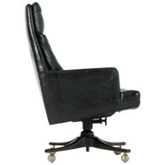Black Leather Desk Chairs The Chair Chords Edward Wormley For Dunbar Executive Highback Circa 1960 Sale