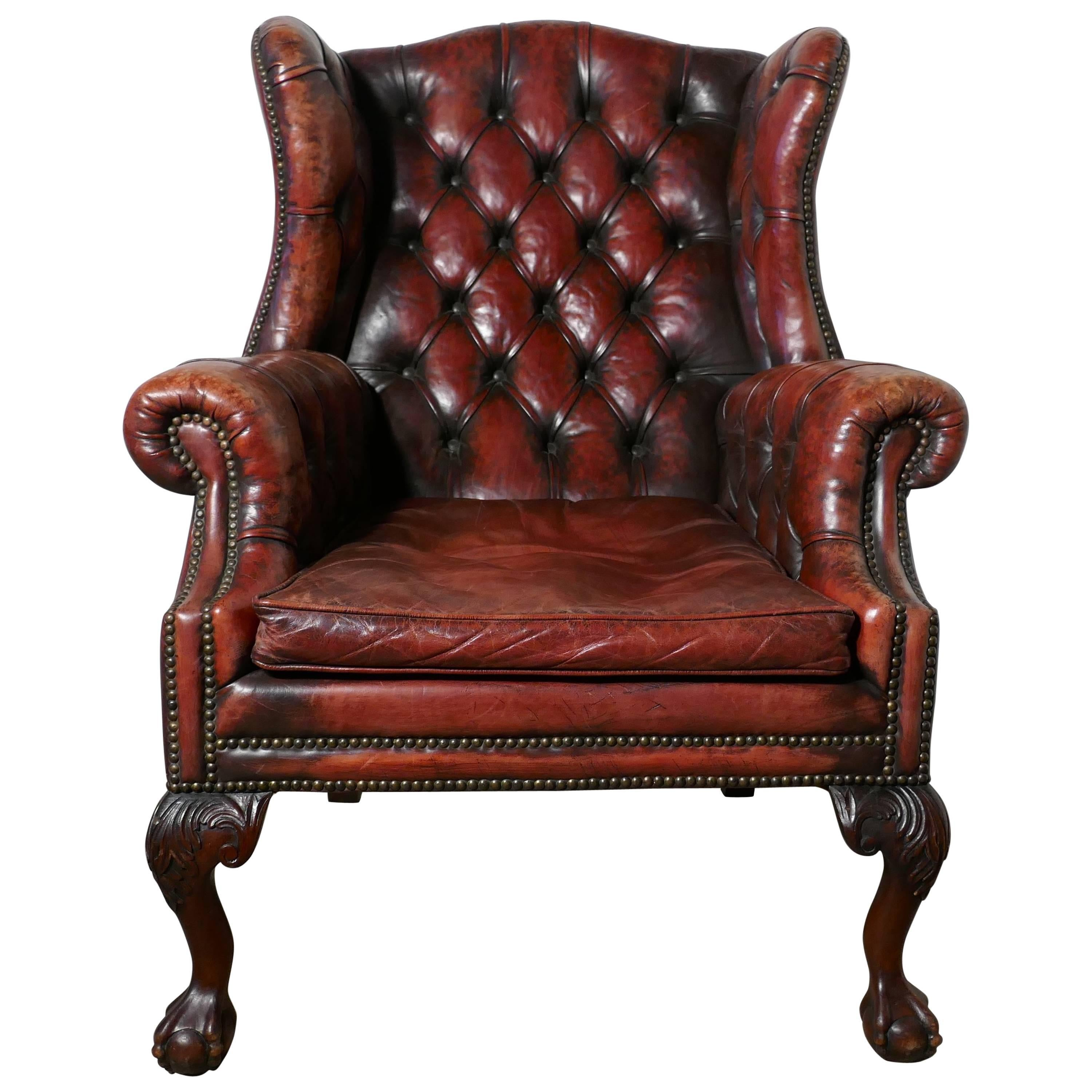 gentlemans chair wedding reception covers edwardian gentleman s wing back leather library at 1stdibs for sale