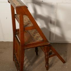 Library Chair Ladder Table And Set For Kids Edwardian Metamorphic Or Steps Sale At 1stdibs A Very Useful Piece This Handy Little