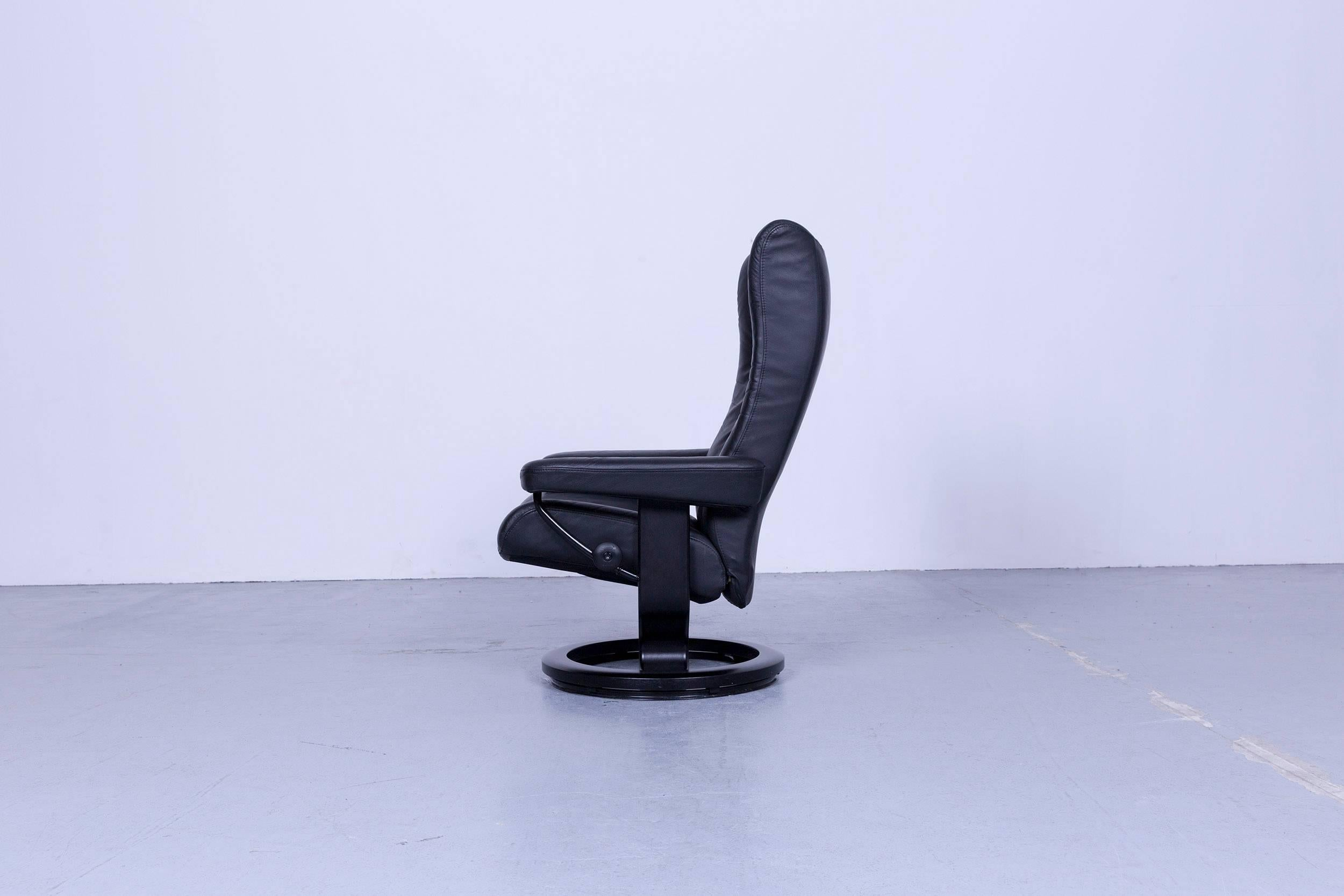 modern recliner chair club chairs with ottomans ekornes stressless wing armchair black leather designer for sale 2