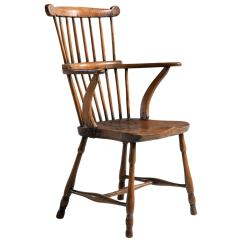 Windsor Chair With Arms Cover Rentals Richmond Va Harlequin Set Of Eight Elm And Ash Broad Arm High Back Chairs At 1stdibs