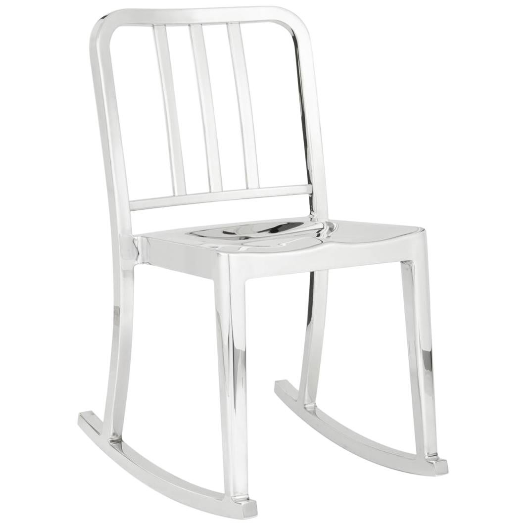 Famous Chair Emeco Heritage Rocking Chair In Polished Aluminum By Philippe Starck