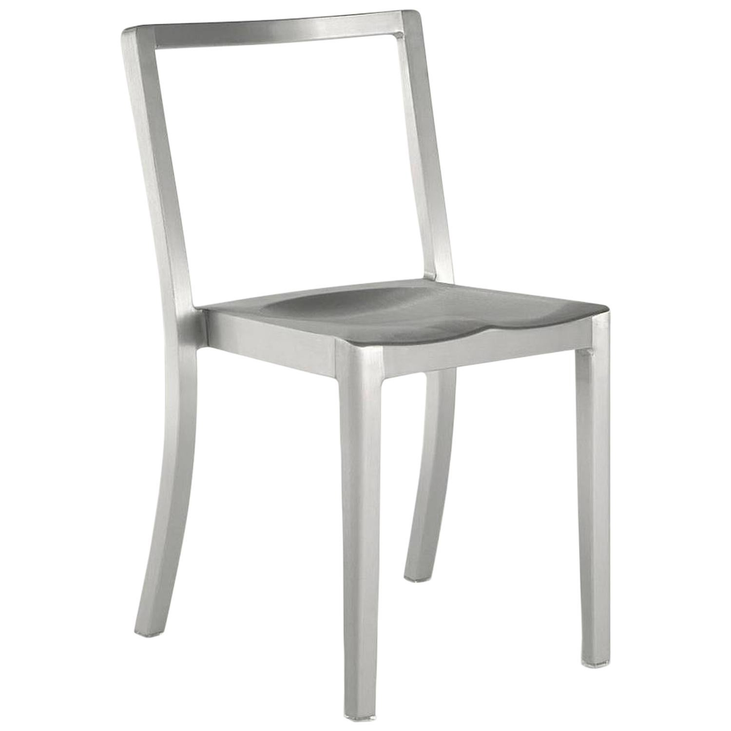 Famous Chair Emeco Icon Chair In Brushed Aluminum By Philippe Starck