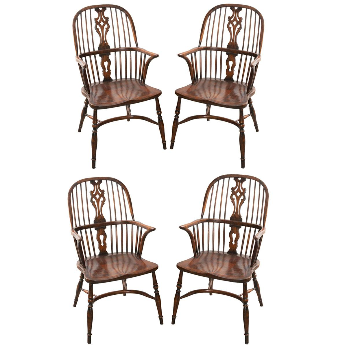 oak windsor chairs office chair without armrest english style set at 1stdibs for sale