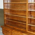 Enormous Mid Century Modern Walnut Bookcase With Drawers And Cupboards