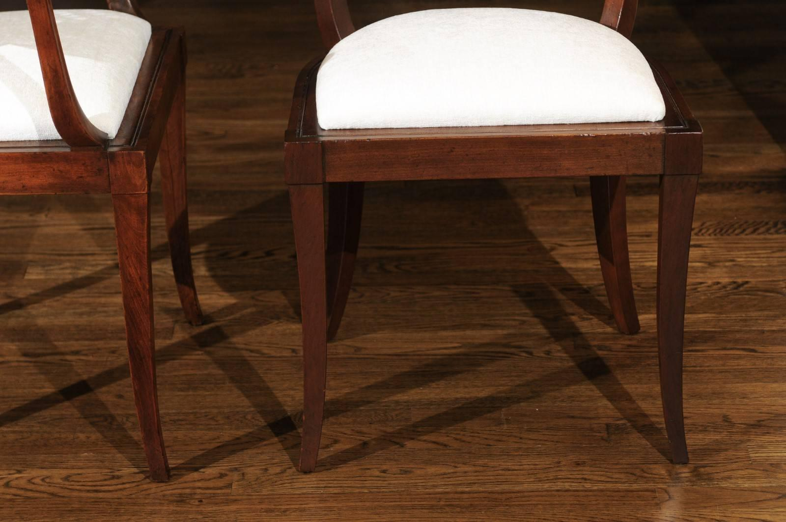Exquisite Set Of Ten Klismos Cane Dining Chairs By Baker