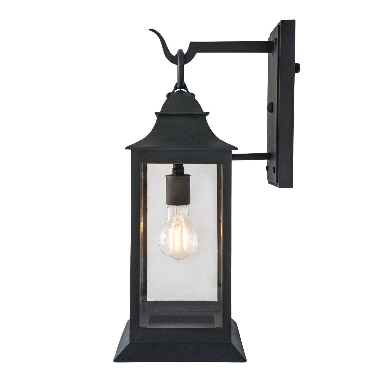 exterior wrought iron wall lantern handmade outdoor light fixture grey finish