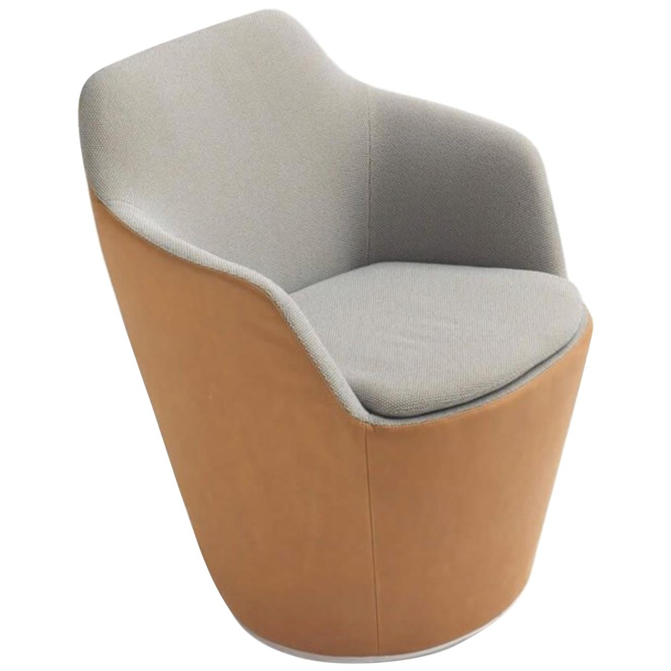 revolving easy chair mart stam flint armchair by jehs and laub in fabric or leather for cor sale