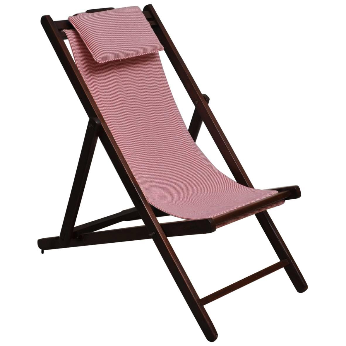 Folding Lounge Chair Folding And Adjustable Sling Back Lounge Chair 1940s British Campaign