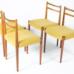 Yellow Chairs For Sale Folding Chair Near Me Four 1960s Fabric Rosewood Danish Modern At