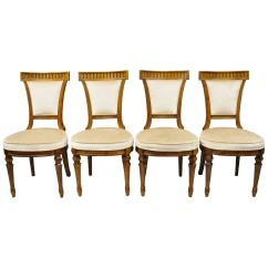 Drexel Heritage Chairs Wedding Ribbon Four French Empire Regency Style Dining Side For Sale