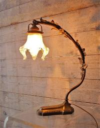French Art Nouveau Bronze Table Lamp, Early 20th Century ...