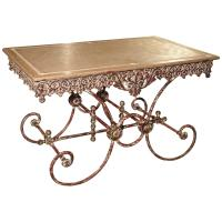 French Iron and Marble Pastry Table For Sale at 1stdibs