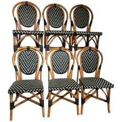 Parisian Cafe Chairs Posture Pleaser Elite Chair Set Of Six French Rattan And Caned Alma By Maison Style Bistro Dining