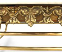 French Victorian Large Brass Pastry Butcher Table at