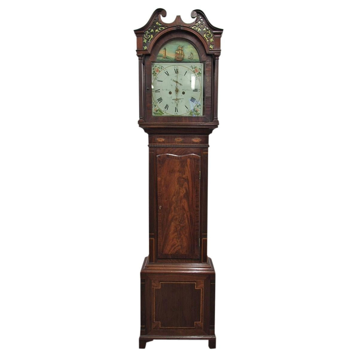 George Iii Chinoiserie Japanned Longcase Clock George Iv Mahogany Longcase Clock By J Dodds Of Wigton For