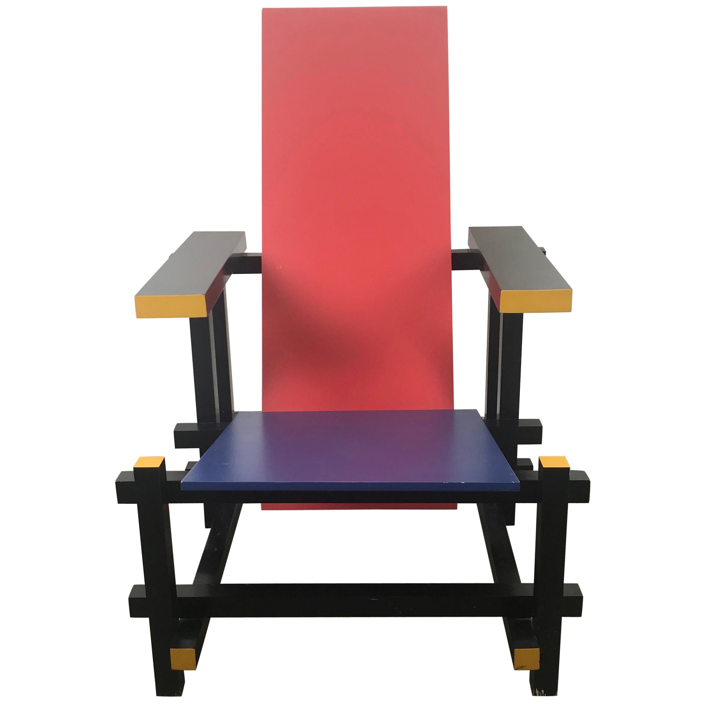 Famous Chair Gerrit Thomas Rietveld Red Blue Chair Gerard Van De Groenekan