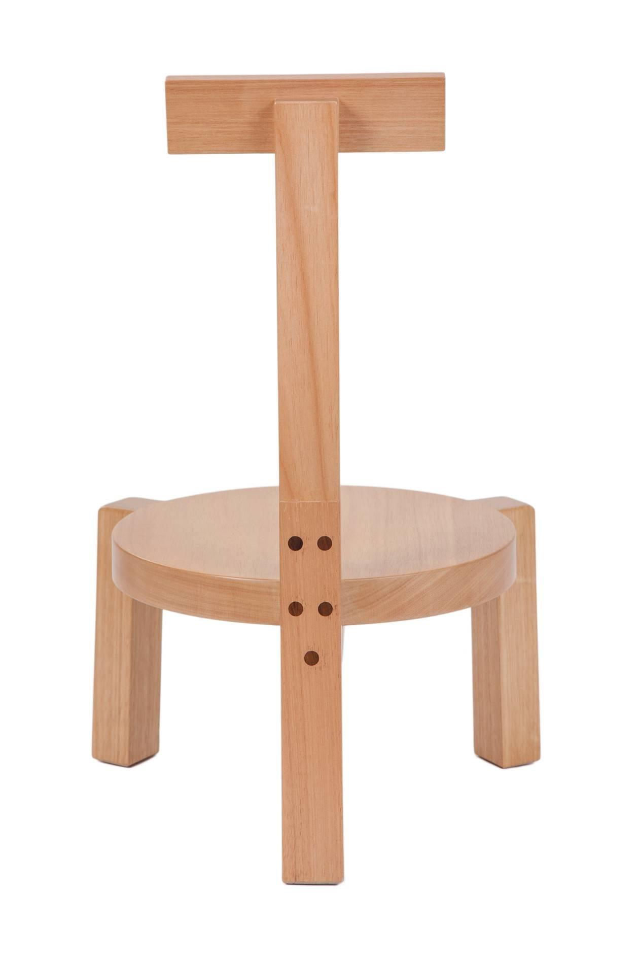 handmade wooden chairs swing chair uk girafa short modern brazilian design of solid wood woodwork for sale