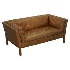 Small 2 Seater Sofa Contemporary Gl Table Halo Groucho Leather Seat Matching Armchair Available For Sale