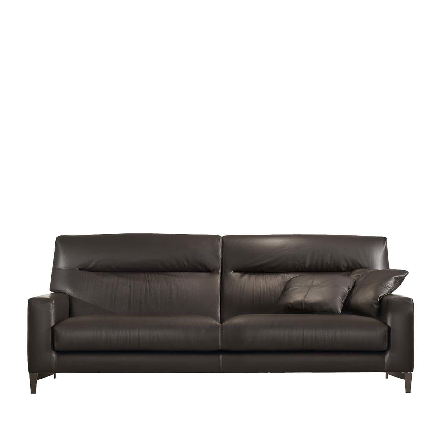 haven dark brown leather